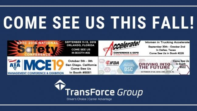 2019 Trucking Industry Trade Shows: Come See Us This Fall!