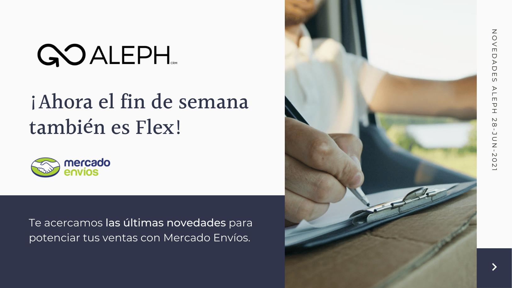 Aleph Solutions te acerca las novedades de Mercado Envíos Flex