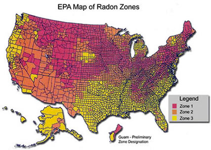 radon gas united states