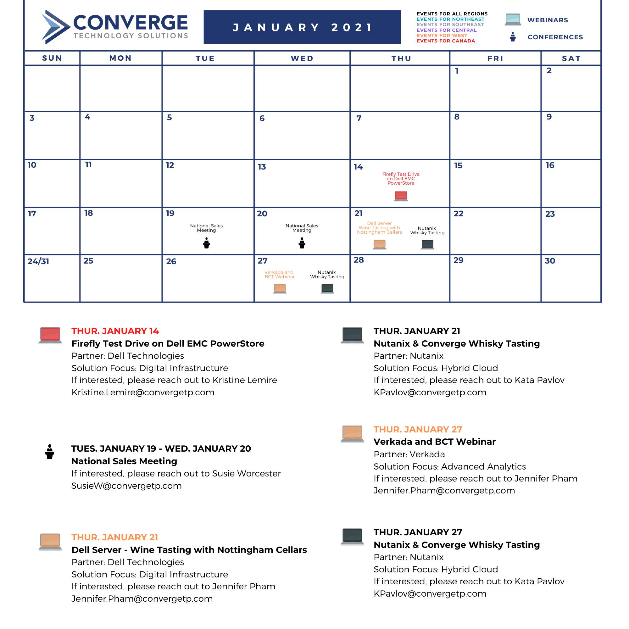 Download Our Event Calendar!