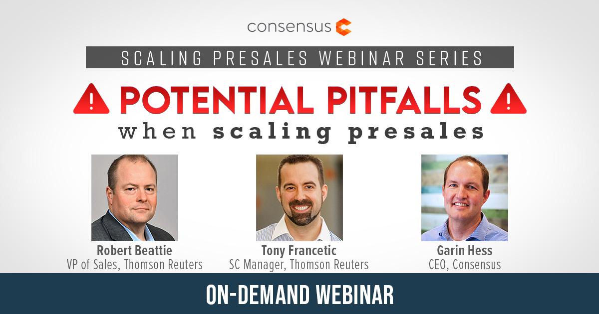 Webinar - Potential Pitfalls When Scaling Presales