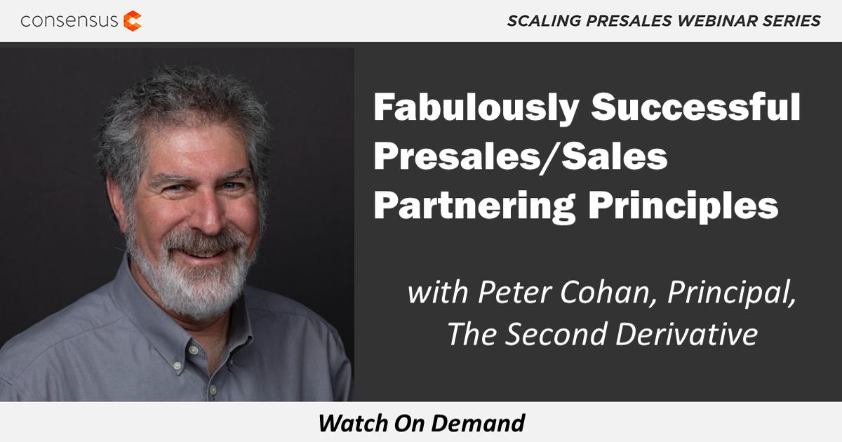 WEBINAR: Fabulously Successful Presales/Sales Partnering Principles