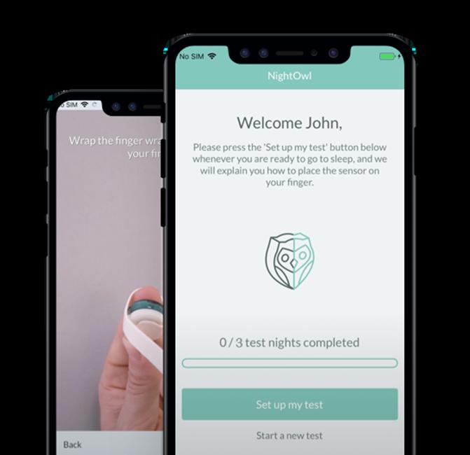 Night Owl App on Phone