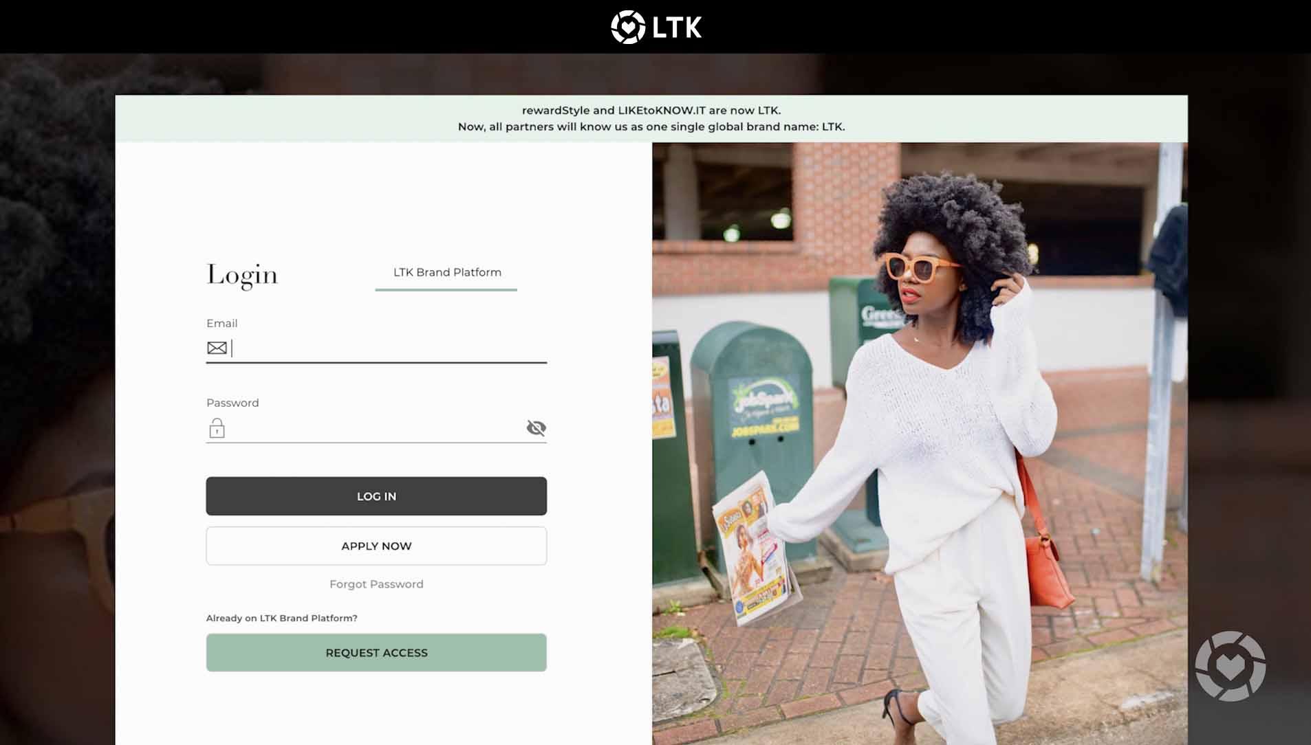 LTK Self-Service Brand Portal