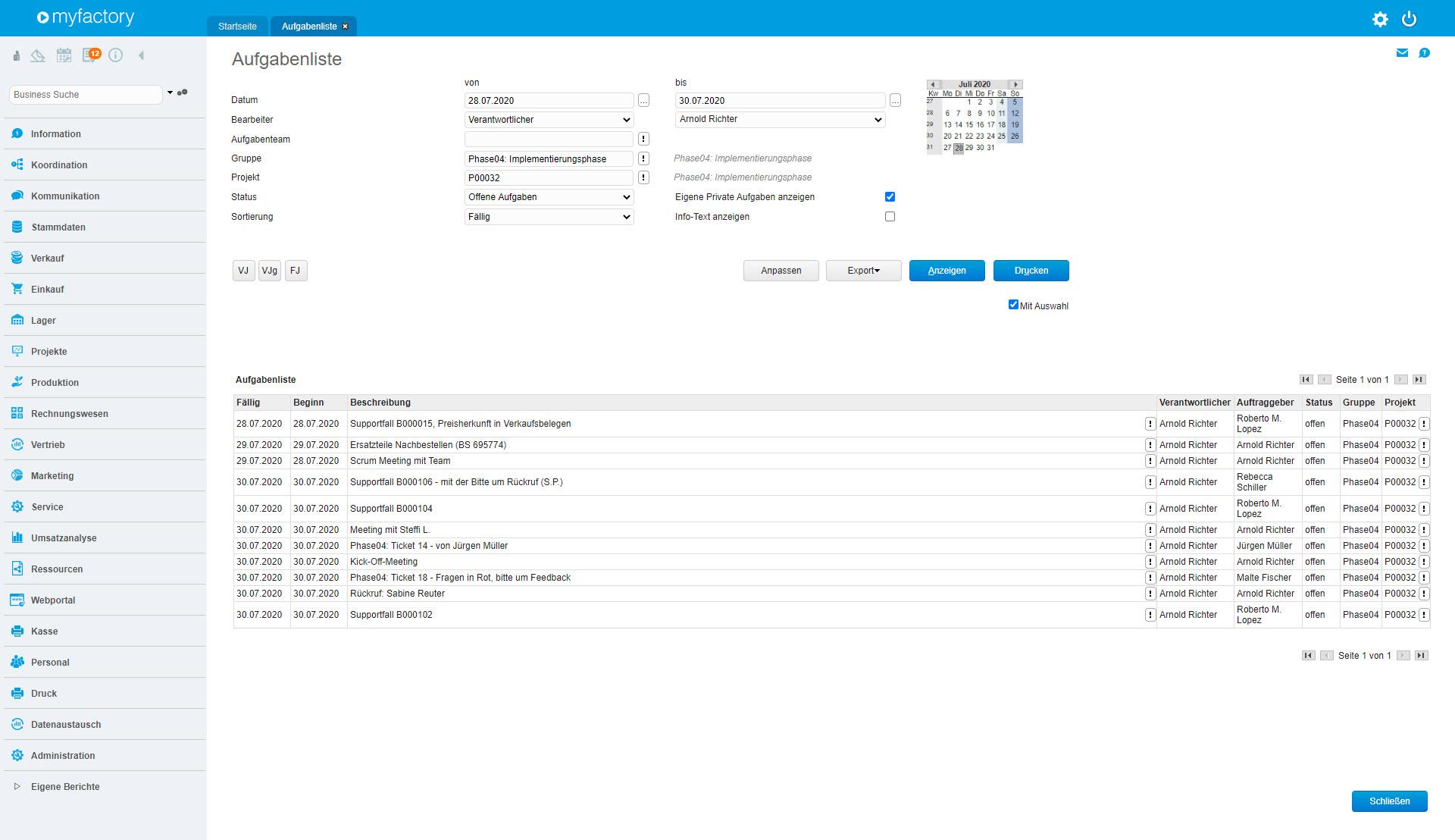 BM - Koordination von Terminen und Aufgaben -Aufgabenliste_