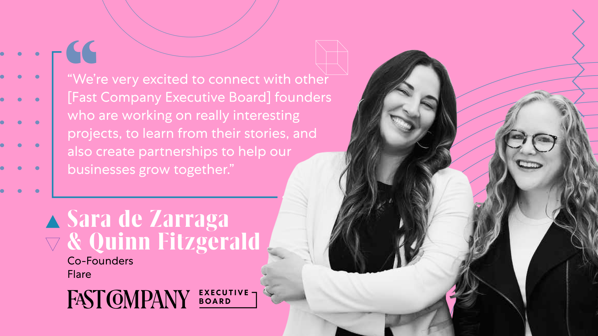 Connecting With Founders Entices Quinn Fitzgerald and Sara de Zarraga