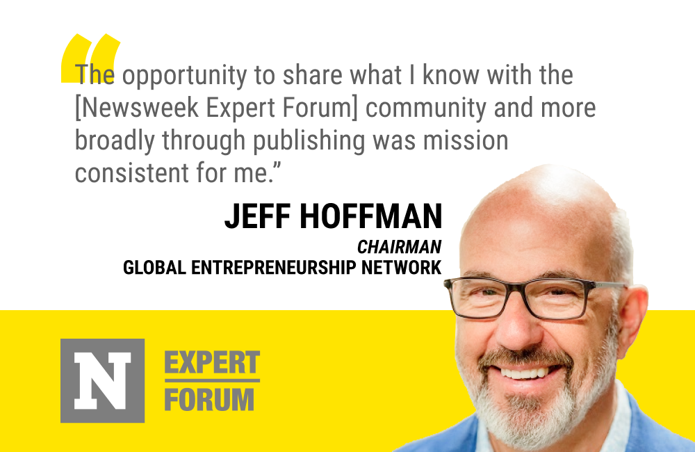 Jeff Hoffman Will Share Entrepreneurship and Innovation Expertise With Newsweek Expert Forum