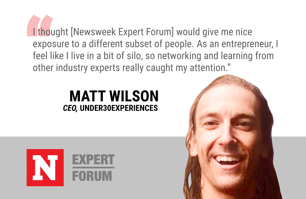 Newsweek Expert Forum Will Give Matt Wilson Networking Opportunities Outside of His Entrepreneurial Silo